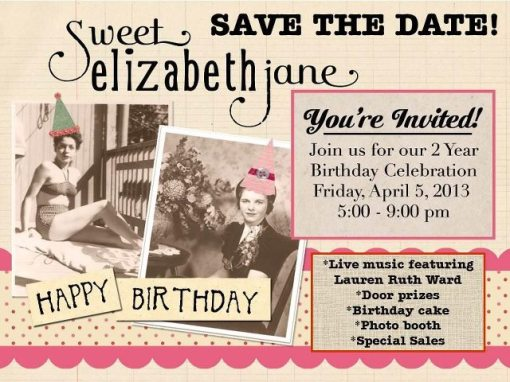 Sweet Elizabeth Jane Birthday Party