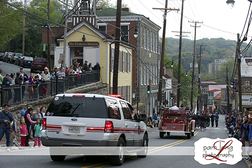 ECVFD parade Main Street Ellicott City photographer