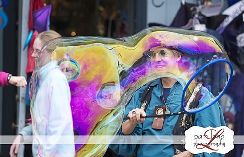 Historic Ellicott City Bubble man The Forget Me Not Factory Event Photographer