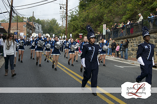 Howard High School Marching band in ECVFD parade Ellicott City photographer