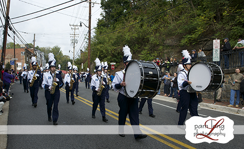 Howard High School Marching Band in Ellicott City parade Howard County Event photographer