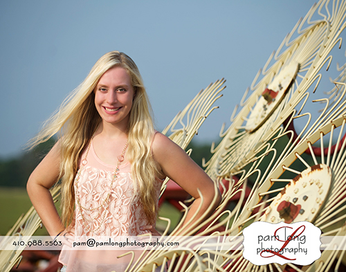 High school senior pictures at a barn Ellicott City photographer