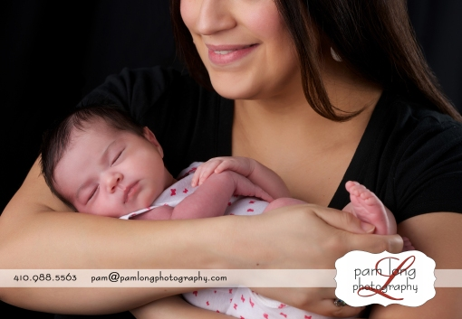 newborn portraits with mother Howard County newborn photographer in Ellicott City Maryland