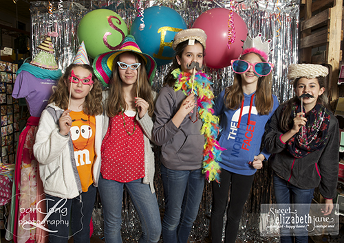 photobooth birthday party Sweet Elizabeth Jane Ellicott City photographer