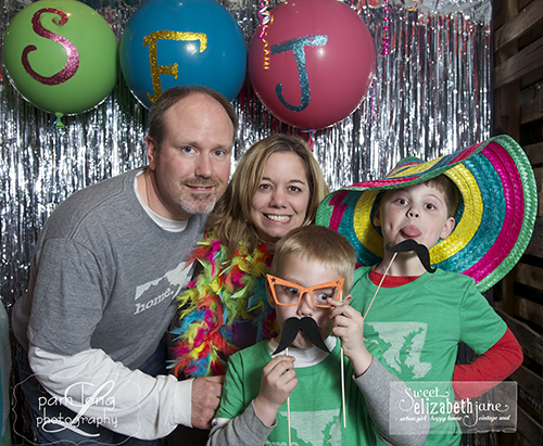 photobooth pictures from Sweet Elizabeth Jane birthday party Historic Ellicott City