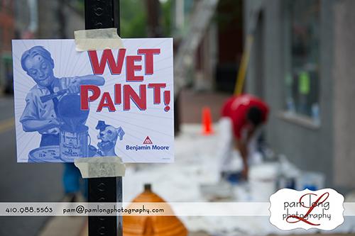 Painting on Main Street Ellicott City Photographer