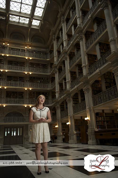 High school senior opera singer Peabody Institute Howard County library