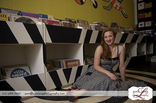 Record store vinyl lp Ellicott City photography studio