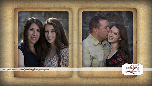 High School senior with parents photographer Ellicott City MD Pam Long Photography