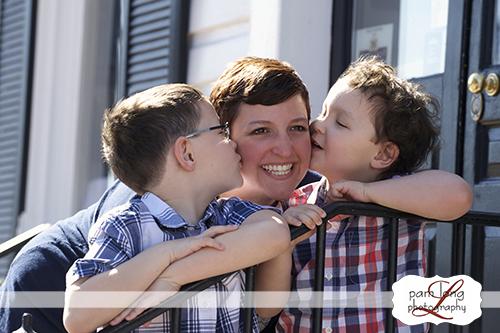 Mom and children portrait Historic Ellicott City family photographer