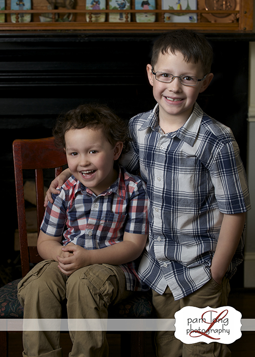 Sibling photographer brothers portraits Pam Long Photography studio Historic Ellicott City
