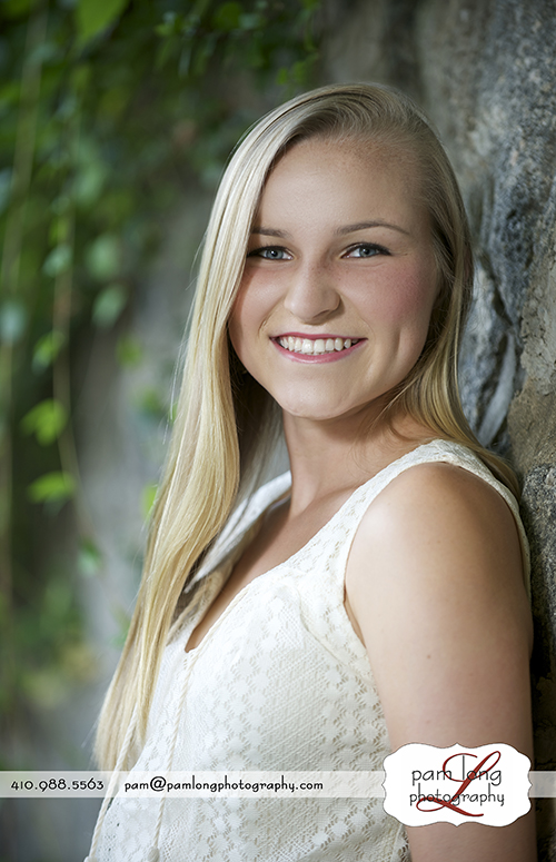 Howard High School senior outdoor portrait photographer Ellicott City Pam Long Photography studio