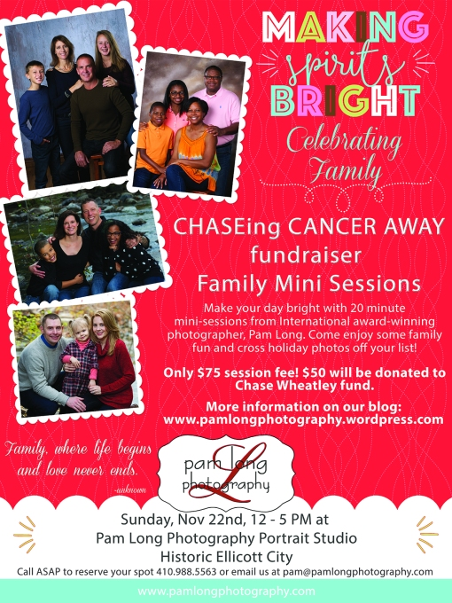CHASEing Cancer Away Promotional Poster 18x24