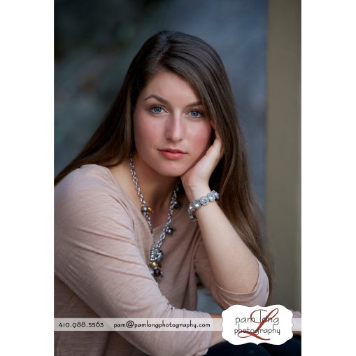 Ellicott City high outside portrait photographer Pam Long Photography studio Howard County Maryland