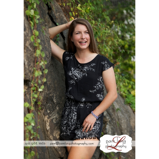 Ellicott City high school senior photographer Pam Long Photography studio Howard County Maryland
