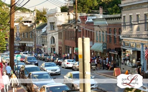 Ellicott City Main Street shopping Pam Long Photography