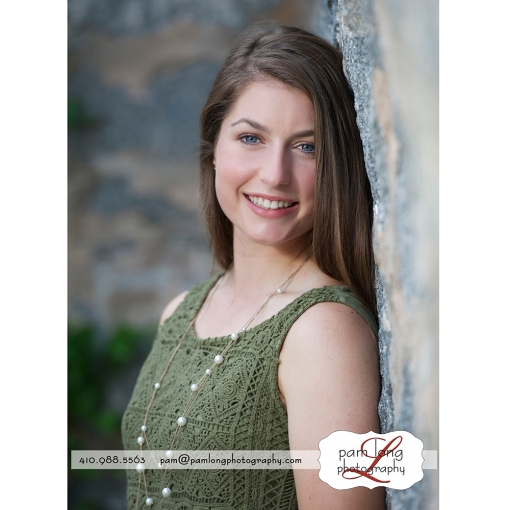 Ellicott City senior portrait photographer Pam Long Photography studio Howard County Maryland