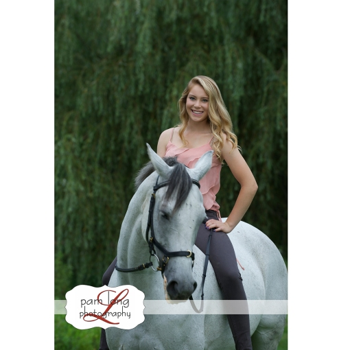 High school Senior girl Equestrian portrait photographer Ellicott City Pam Long Photography studio Howard County Maryland