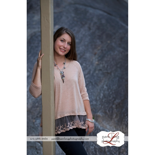 Historic Ellicott City high school senior portrait photographer Pam Long Photography studio Howard County MD