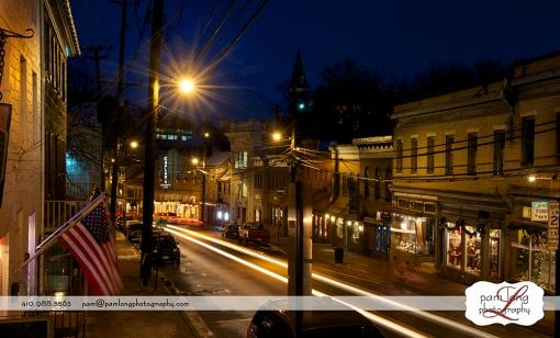 Night Historic Ellicott City Pam Long Photography