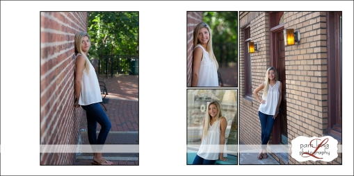 Custom album high school senior photographer Pam Long Photography portrait studio Maryland
