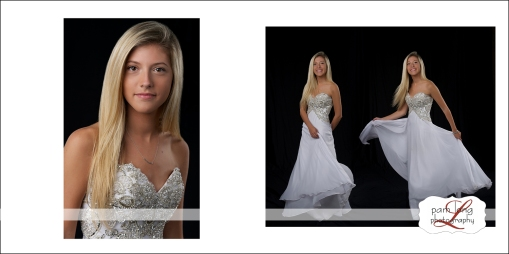 Custom portrait album high school senior photographer Pam Long Photography studio