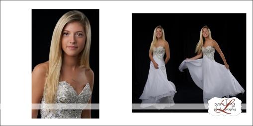 Custom portrait album high school senior photographer Pam Long Photography studio
