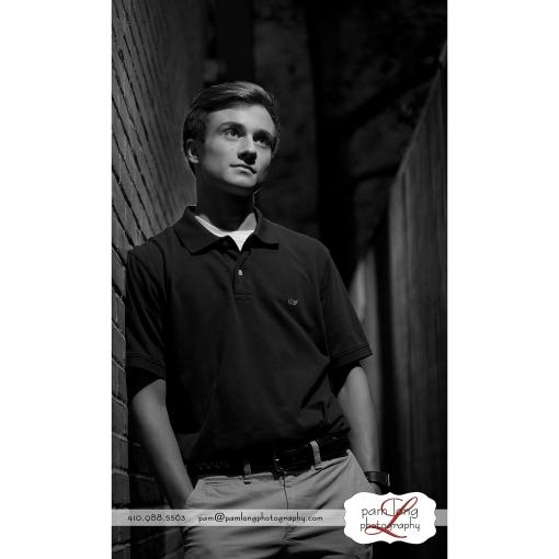 edgy senior portrait photographer Howard County Pam Long Photography studio Ellicott City MD