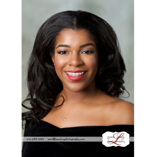 High school senior yearbook photographer in Howard County Maryland Pam Long Photography studio Ellicott City MD