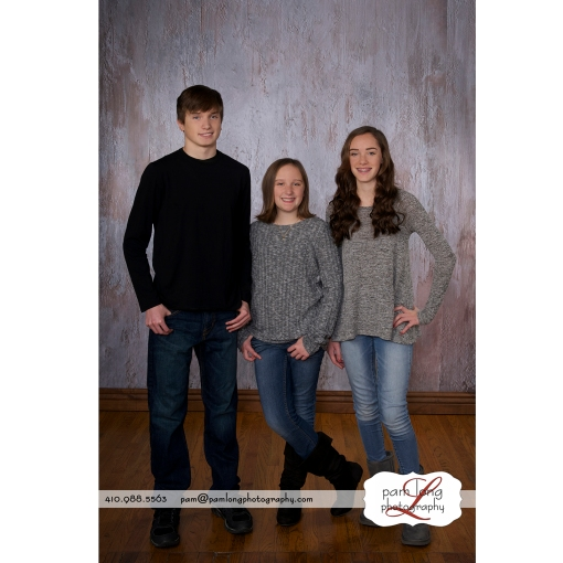 Cousins family photographer Ellicott City Maryland Pam Long Photography studio Howard County Maryland