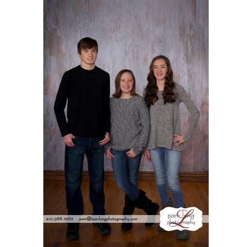 Cousins family photographer Ellicott City Maryland Pam Long Photography studio Howard County Maryland