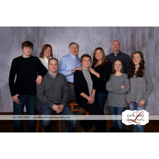 Extended Family photographer in Howard County Maryland Pam Long Photography studio Ellicott City MD