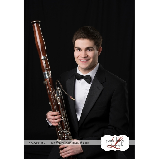 Howard County photographer portrait formal bassoon musician photographer Pam Long Photography studio Ellicott City MD