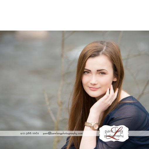 high school senior photographer Pam Long Photography studio Ellicott City MD